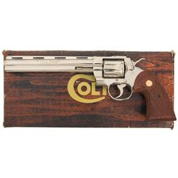Rare Nickel Plated Colt Python .38 Special Double Action Revolver with Box