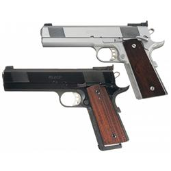 Two Cased Les Baer 1911 Monolith Semi-Automatic Pistols -A) Cased Les Baer Custom 1911 Monolith Semi
