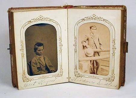 antique photo album w 26 cdv and tintype photos i