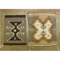 2 Navajo Homespun Sampler Weavings