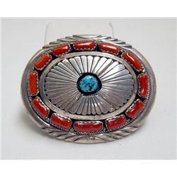 1975 Navajo Belt Buckle by JW Toadlena