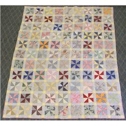 1900s Antique Pinwheel Quilt