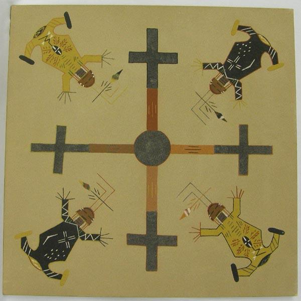 Navajo Sand Painting By Jeanette Johnson
