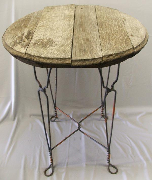 - Antique Ice Cream Parlor Table With Four Chairs