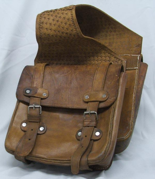 Image 1 Vintage Leather Cowboy Saddle Bags