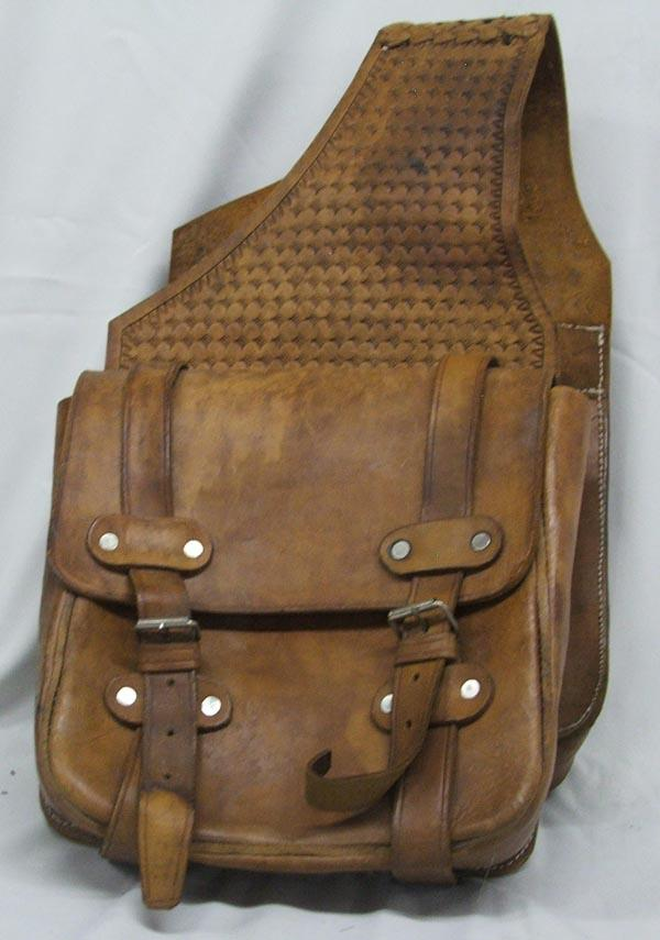 Image 2 Vintage Leather Cowboy Saddle Bags
