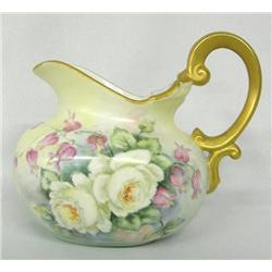 1968 Handpainted Fine Porcelain Pitcher by O'Neal