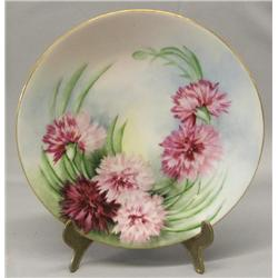 1913 French Hand Painted Plate by Grace