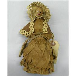 Vintage Hickory Nut Face & Tobacco Leaf Doll