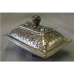 Fancy Cast Metal Covered Soap Dish