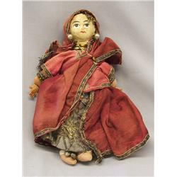 Antique East Indian Cloth ''Dancing'' Doll