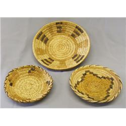 3 Papago Baskets