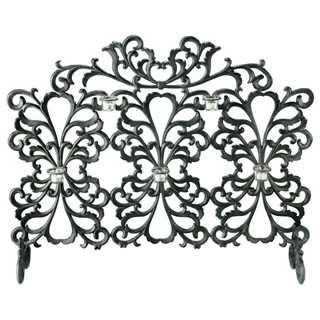 Scroll Votive Candle Fireplace Screen