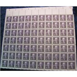 """7. Mint Sheet of .04c """"John Foster Dulles"""" Stamps. (Total face value $2.80)"""