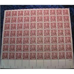 """9. Mint Sheet of .04c """"Andrew Carnegie"""" Stamps. (Total face value $2.80)"""