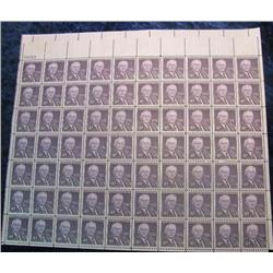 """10. Mint Sheet of .04c """"Walter F. George"""" Stamps. (Total face value $2.80)"""