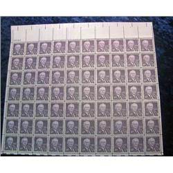 "11. Mint Sheet of .04c ""Walter F. George"" Stamps. (Total face value $2.80)"