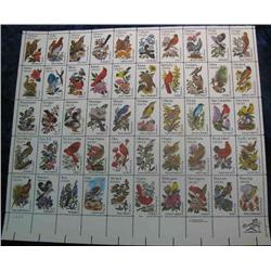 "21. Mint Sheet of .20c "" State Birds and Flowers"" Scott 1953-2002. Catalog $41.00."