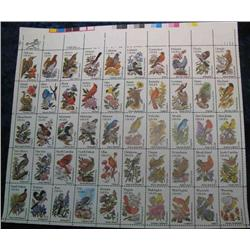 "23. Mint Sheet of .20c "" State Birds and Flowers"" Scott 1953-2002. Catalog $41.00."