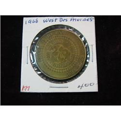 974. 1893-1968 West Des Moines, Iowa 75th Anniversary Medal.
