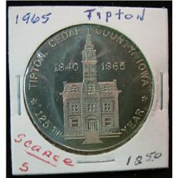 1076. 1840-1965 Tipton, Iowa, 125 th. Anniversary, Souvenir Dollar. Nickel