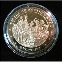 1201. 1890 Wounded Knee Bronze Medal Proof Like.