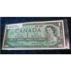 1238. Series 1967 Canadian $1.00 Note. Unc.