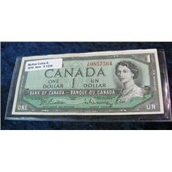1239. Series 1954 Canadian $1.00 Note. EF.