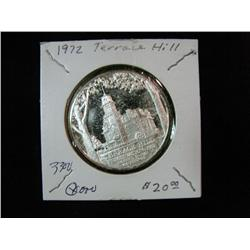 1310. 1972 Silver Terrace Hill (Iowa Governors Mansion) Medal.