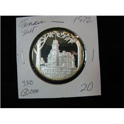 1312. 1972 Silver Terrace Hill (Iowa Governors Mansion) Medal.