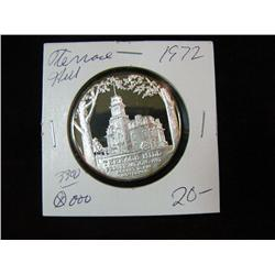 1313. 1972 Silver Terrace Hill (Iowa Governors Mansion) Medal.