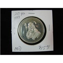 1319. Queen with Trident. .999 FS. 20-Grams Medal.