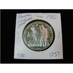 1333. 1980 Russia Silver 10-Roubles. Volleyball Proof.