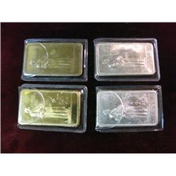 1338. (4) Rectangle Bars Nickel and Brass