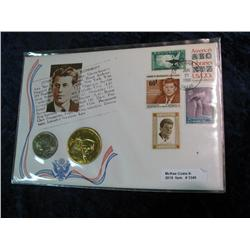 1349. 1972 Kennedy Half Dollar & Medal in Stamped Panel.