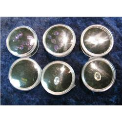 501. Collection of (22) Unset Semi-Precious faceted Stones. All in display boxes.