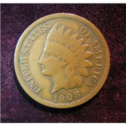 546. 1908 S Indian Head Cent. F-12.