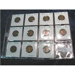 551. (5) 1929P, (5) 49S, & 55P Lincoln Cents in a plastic page. All high grade.