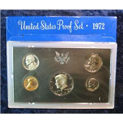 555. 1972 S U.S. Proof Set with Deep Mirror Cameo Frosted Proof Kennedy Half Dollar.