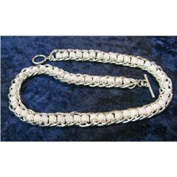 "576. 18"" .925 Fine Silver 94.8 Grams Necklace."