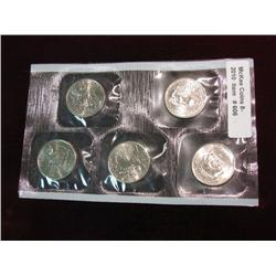 606. 2002 P Five-Piece Statehood Quarter Set in original cellophane.