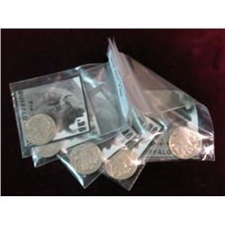 609. (5) Gift Packs of Pre-1939 Buffalo Nickels with Indian Heads.