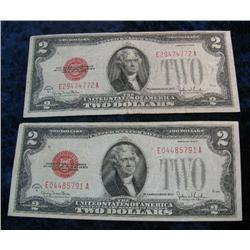 612. (2) Series 1928G $2 Dollar United States Notes.