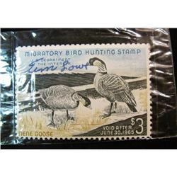 623. Scott RW No. 31 1964 Federal Duck Stamp. Signed. Cat. $10.50