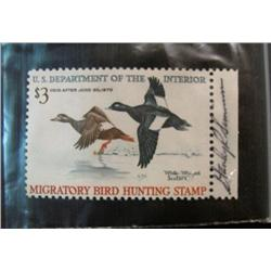 628. Scott RW No. 36 1969 Federal Duck Stamp. Unsigned. Cat. $65.00