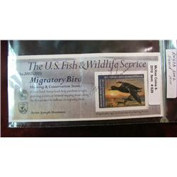 629. Scott RW No. 69A 2002 Federal Duck Stamp. Signed. Cat. $10.00