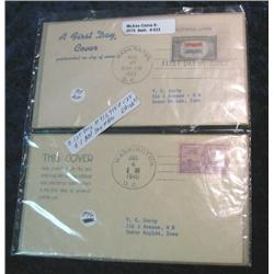 633. Three First Day Covers. Scott # 913, 915, & C5 & one 2nd Day # 896.
