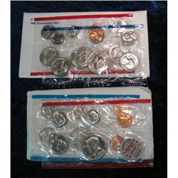 703. 1972 & 1981 U.S. Mint Sets. Both original as issued.