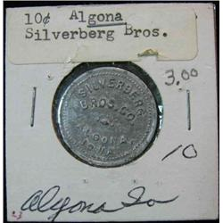 846. Silverberg Bro. Co., Algona, Iowa, Good For 10c in Merchandise.