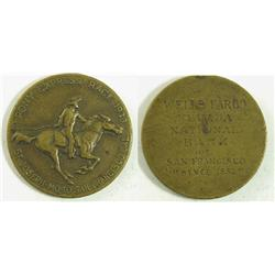 San Francisco,CA - 1923 - Wells Fargo Pony Express Race Medal :